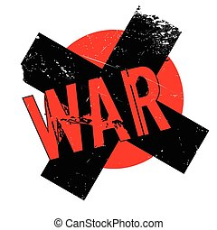 War rubber stamp. Grunge design with dust scratches. Effects...