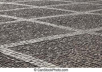 Cobblestone - Stockholm, Sweden Cobblestone background...