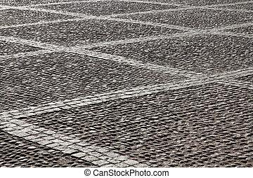 Cobblestone - Stockholm, Sweden. Cobblestone background...