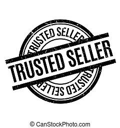 Trusted Seller rubber stamp. Grunge design with dust...