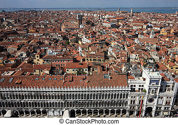 Venice cityscape - famous old city in Italy. Mediterranean...