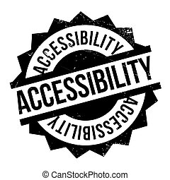 Accessibility rubber stamp. Grunge design with dust...