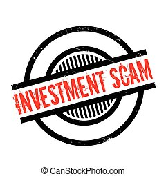 Investment Scam rubber stamp. Grunge design with dust...