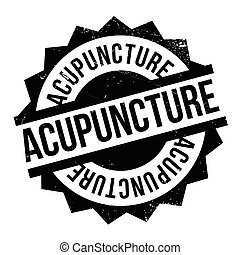 Acupuncture rubber stamp. Grunge design with dust scratches....