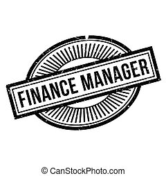 Finance Manager rubber stamp. Grunge design with dust...