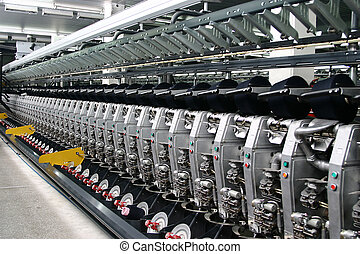 Textile Manufacturing Machine with deep perspective