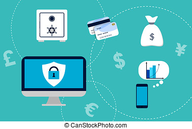 Electronic Banking concept