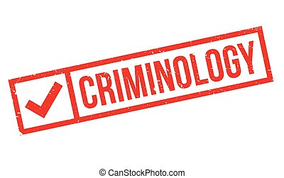 Criminology rubber stamp. Grunge design with dust scratches....
