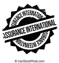 Assurance International rubber stamp. Grunge design with...