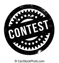Contest rubber stamp. Grunge design with dust scratches....