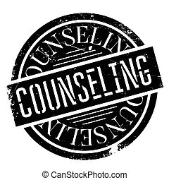 Counseling rubber stamp. Grunge design with dust scratches....