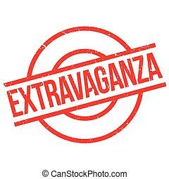 Extravaganza rubber stamp. Grunge design with dust...