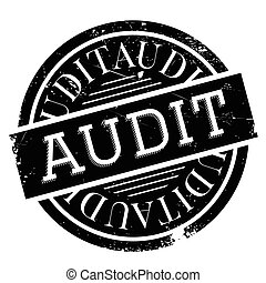 Audit rubber stamp. Grunge design with dust scratches....