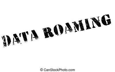 Data Roaming rubber stamp. Grunge design with dust...