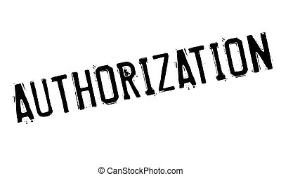 Authorization rubber stamp. Grunge design with dust...