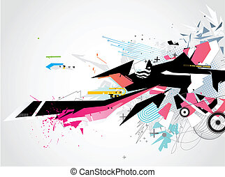 abstract Background - Vector illustration of abstract styled...