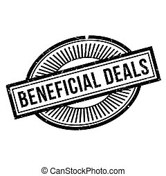 Beneficial Deals rubber stamp. Grunge design with dust...