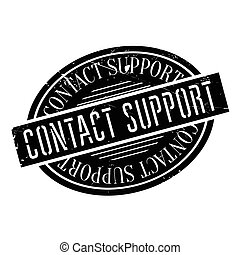 Contact Support rubber stamp. Grunge design with dust...