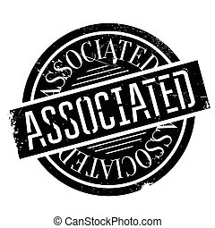 Associated rubber stamp. Grunge design with dust scratches....