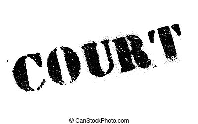 Court rubber stamp. Grunge design with dust scratches....