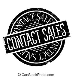 Contact Sales rubber stamp. Grunge design with dust...