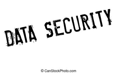 Data Security rubber stamp. Grunge design with dust...