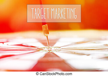 Target Marketing concept with darts arrow