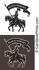 Equestrian knight in armor. - Equestrian knight in armor...