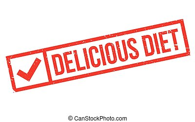 Delicious Diet rubber stamp. Grunge design with dust...