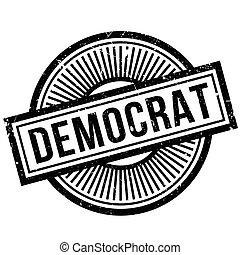 Democrat rubber stamp. Grunge design with dust scratches....