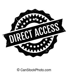 Direct Access rubber stamp. Grunge design with dust...