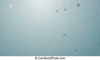 Abstract background of connection concept dot and line...