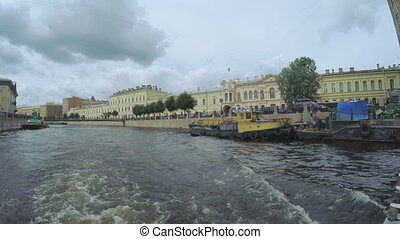 Vessel cleaning channels - RUSSIA, SAINT PETERSBURG, JULY,...