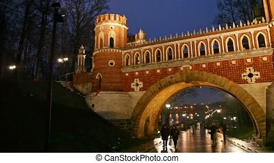 Bridge in Tsaritsino, Moscow - Moscow, Russia - September...