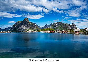 Lofoten archipelago islands Norway - Lofoten islands is an...