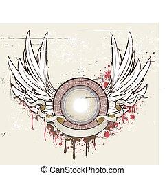 grunge heraldic shield