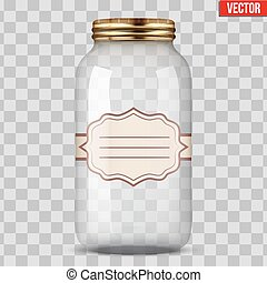 Glass Jar for canning with label - Big Glass Jar for canning...