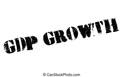 Gdp Growth rubber stamp. Grunge design with dust scratches....