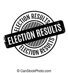 Election Results rubber stamp. Grunge design with dust...