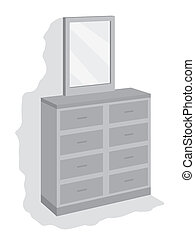 dresser gray - dresser with mirror on top and drawers at the...