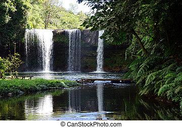 Champy waterfall in Laos