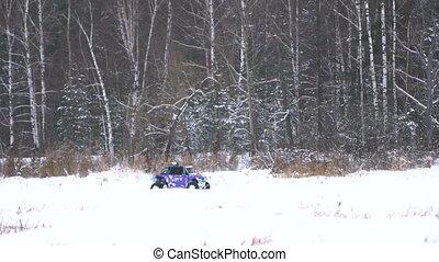 Winter off-road racing. Buggy race. - Winter off-road racing...