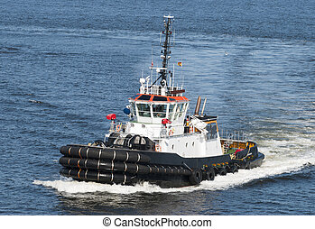 Saint John's Tugboat - The tugboat passing by in Saint...