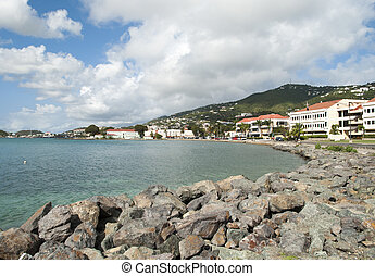 St. Thomas Long Bay - The view of Charlotte Amalie town by...