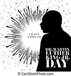 Happy MLK Day - I have a dream on a sunburst