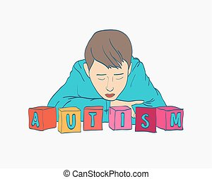 World Autism Day. Autism solidarity day.Autism sign. Vector illustration