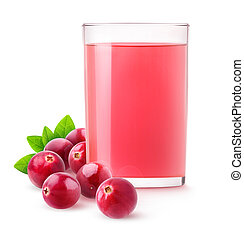 Isolated cranberry drink - Isolated cranberry juice. Glass...