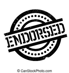 Endorsed rubber stamp. Grunge design with dust scratches....