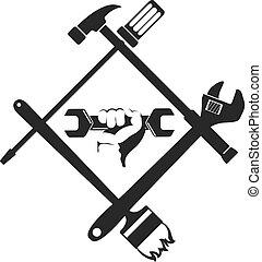 Repair symbol with tool - Repair symbol with the tool,...