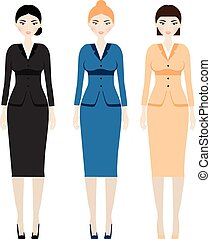 Woman dress code. Female in business outfit, office clothes....